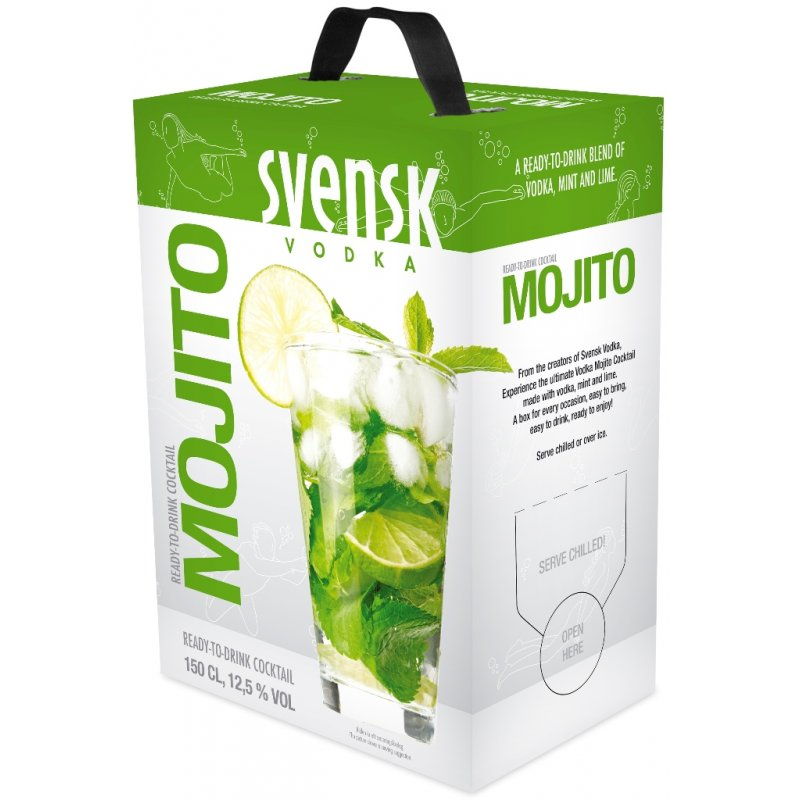 svensk lime mojito 1 5 liter bag in box 10 95 weine. Black Bedroom Furniture Sets. Home Design Ideas